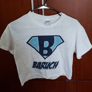 NYC Baruch cropped tee